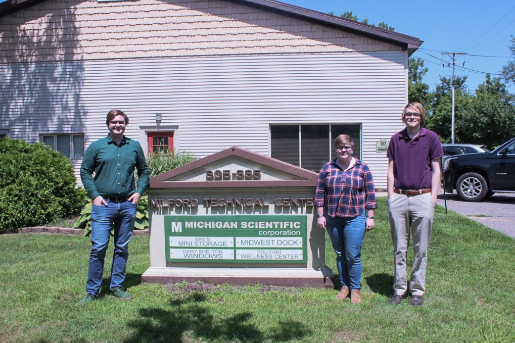 Michigan Scientific interns in Milford